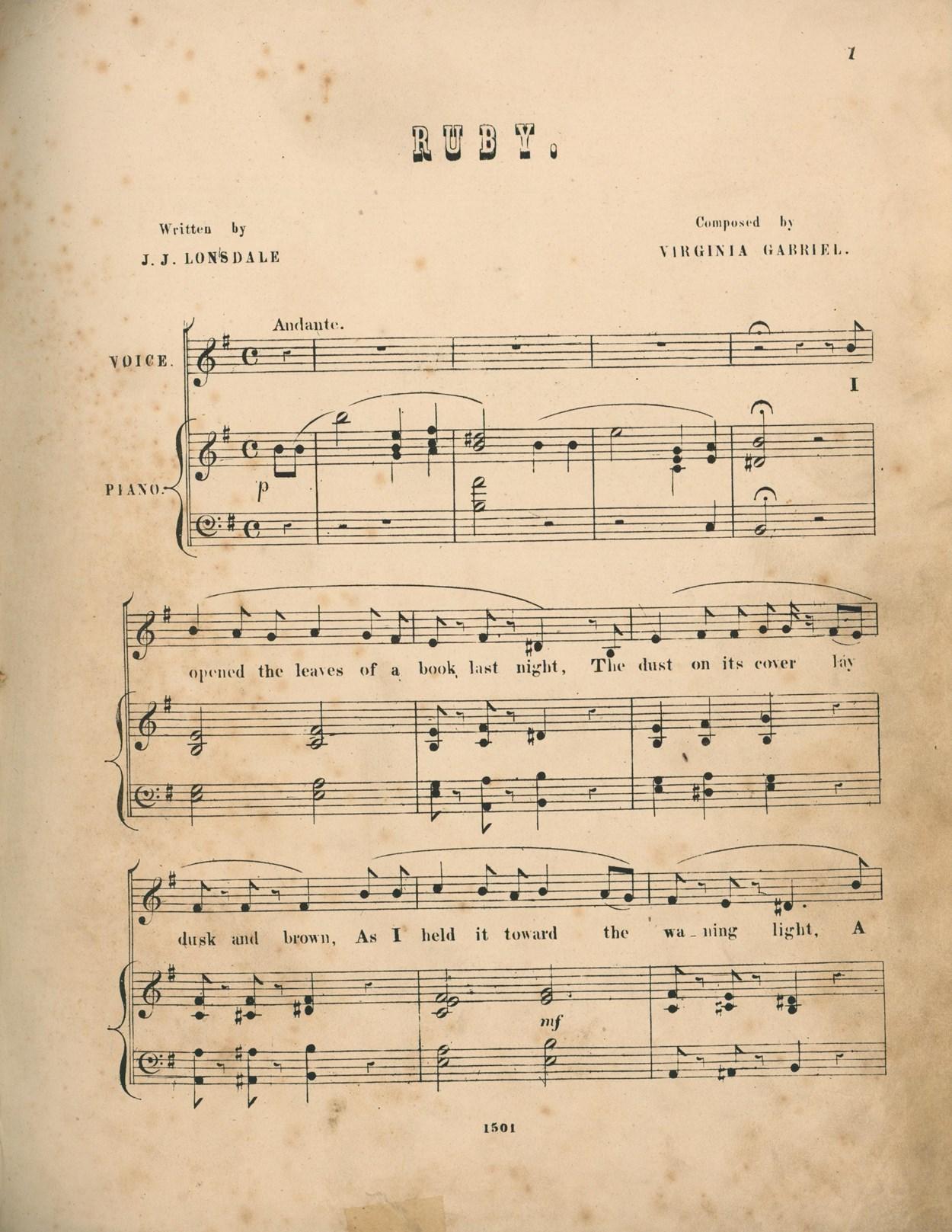 Virginia Gabriel - Ruby c.1850