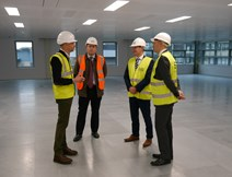 Building Scotland Fund: Left to right: Tim Griffin, Michael Laird Associates; Cameron Cook, Amber Infrastructure; Derek Mackay, Economy Secretary; Gareth Richardson, Signal Capital.