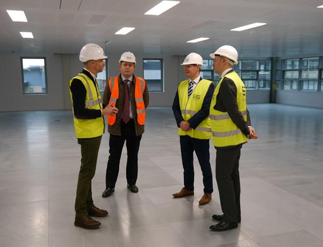 Building Scotland Fund: Left to right: Tim Griffin, Michael Laird Associates; Cameron Cook, Amber Infrastructure; Derek Mackay, Economy Secretary; Gareth Richardson, Signal Capital.