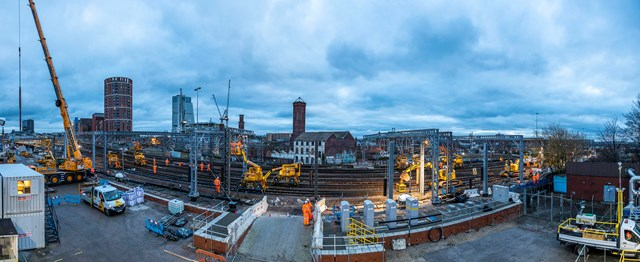 Time-lapse footage shows Network Rail successfully complete Christmas upgrades at Leeds station: Network Rail carrying out christmas upgrades at Leeds station