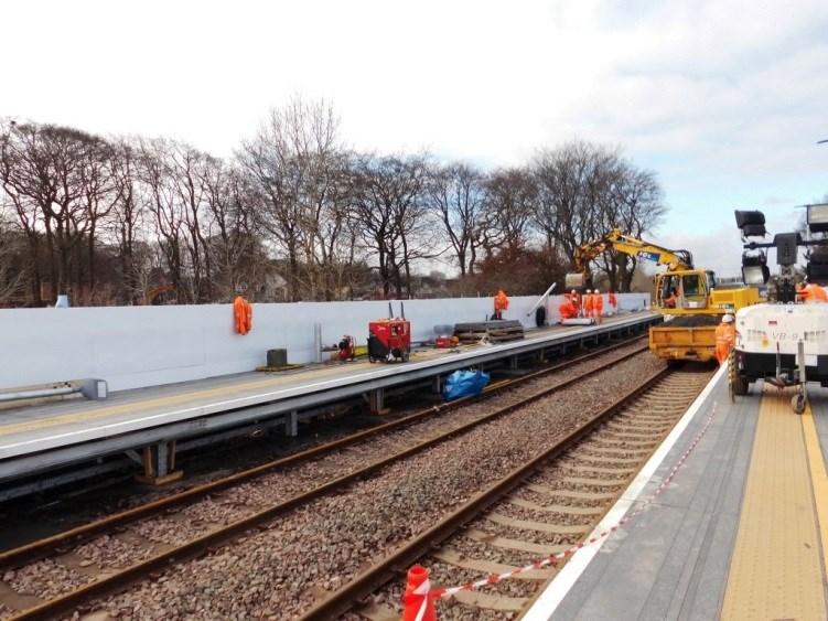 Livingston South station redevelopment programme revised: 8 April Platfrom finishing works-2