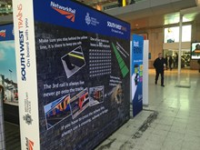 Rail Safety Awareness Day interactive display stand at Waterloo (2)