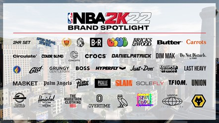 NBA 2K22 Apparel Partners
