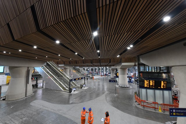 London Bridge Jan 1: London Bridge's new concourse, pictured just before it opened fully for the first time
