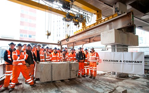 The last piece of concrete removed from New Street's new concourse_1