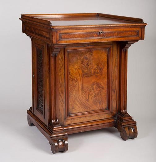 Florence desk: Fashioned from walnut and mahogany, this desk was the property of Florence Nightingale, the famous Lady of the Lamp, and is one of a number of exhibits currently on display at Lotherton Hall which give an unprecedented insight into her life. The desk dates from the 1840s and was brought to Lotherton by Florence's god-daughter, Gwendolen Gascoigne.