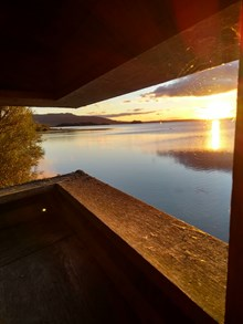 Loch Leven NNR - Sunrise from Mill Hide - Copyright David Alston