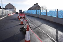 Splott Road bridge will close on 4 February: Pictured: the recently reconstructed side of Splott Road bridge
