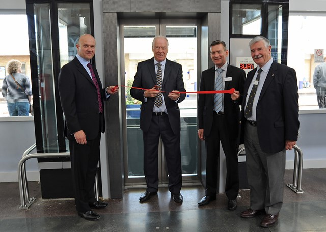 """Sir Stuart Bell MP """"opens"""" lifts at Middlesbrough station_2"""