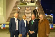 Brown, Khan, Bloomberg, Hayward - copyright Transport for London