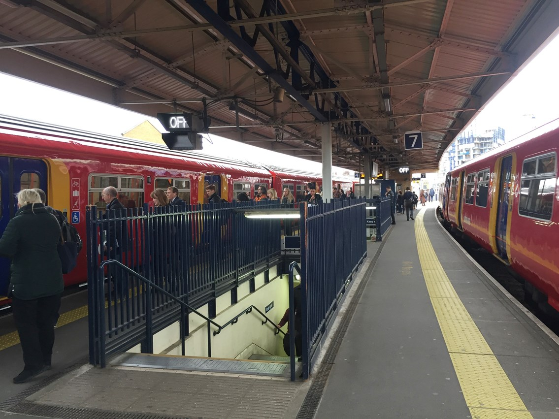 Network Rail will construct a third stairwell on platforms 7 & 8, in addition to the two already in place