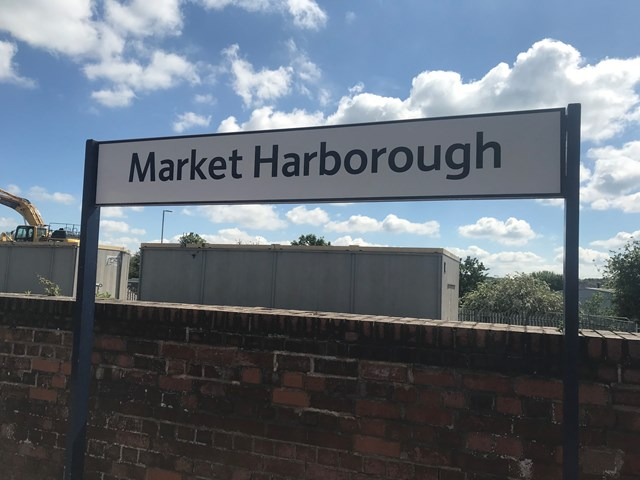 Passengers urged to plan ahead as six days of major work at Leicestershire railway station begins today: MH station sign
