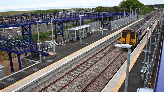 Test train at Horden station