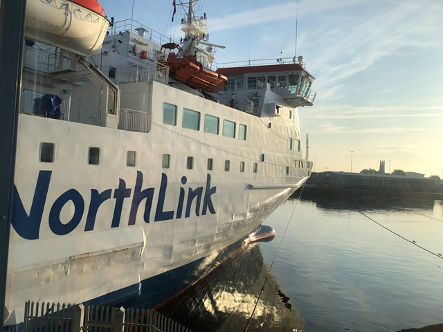 Northern Isles Ferry Services update: Northlink ferry Aberdeen harbour