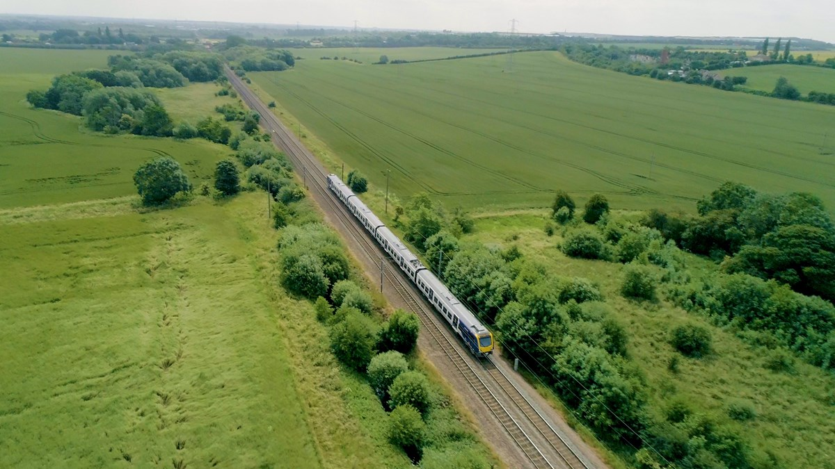 New train aerial Doncaster