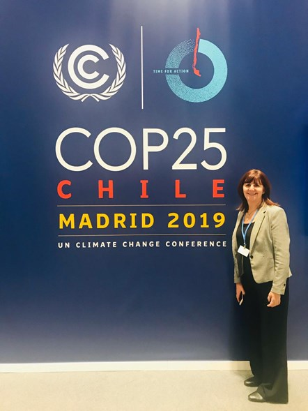 Wales must join forces with others to ensure 'no countries are left behind' in climate change efforts, pledges Lesley Griffiths at COP25 in Madrid: Wales. COP. Madrid
