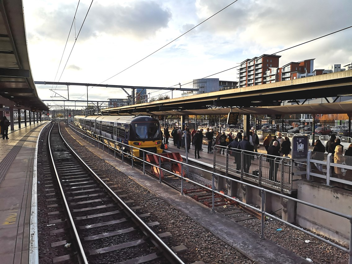 Passengers urged to check before they travel over Christmas as improvement work continues at Leeds station: Passengers urged to check before they travel over Christmas as improvement work continues at Leeds station