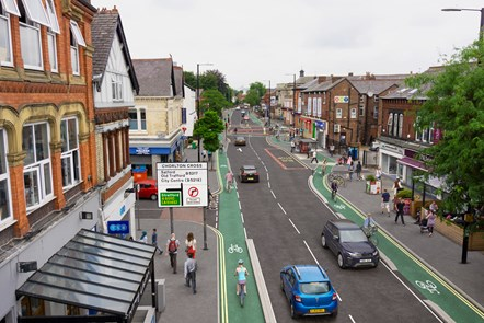 Chorlton Cycleway - Barlow Moor Road - Visualisation