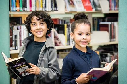 Islington celebrates a stellar performance in the Summer Reading Challenge: Rafiah and Thandiwe celebrate the wrap-up of 2019's Summer Reading Challenge