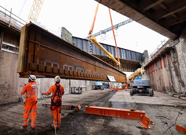 Major 16-day railway overhaul completed in Manchester as part of the Transpennine Route Upgrade: Work to reconstruct Dantzic St bridge-2