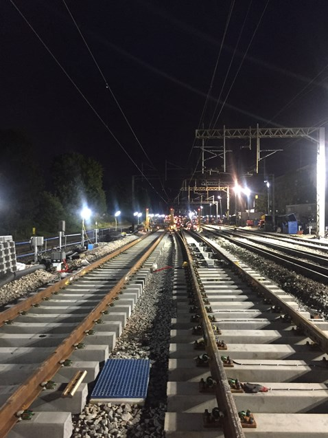 North Wembley junction - new track installed