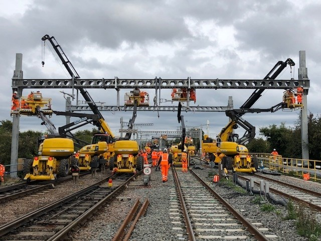 Passengers are reminded to check before travelling to the West this August bank holiday: Electrification at Bristol Parkway