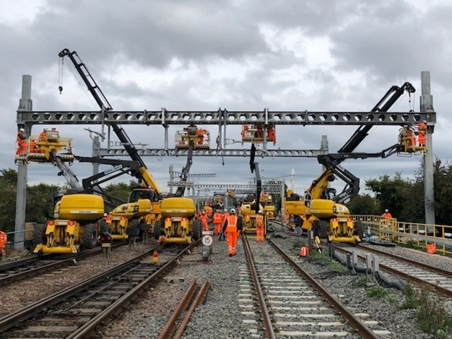 Electrification to Bristol Parkway a step closer as Network Rail carry out vital upgrade: Electrification at Bristol Parkway