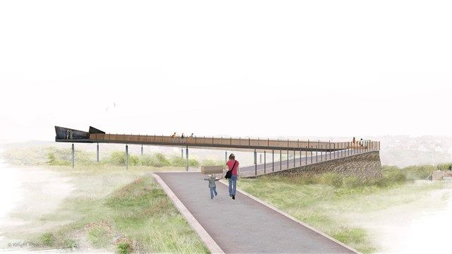Unique footbridge design set to provide safer access across the railway at South Downs National Park: TMLCR Image2