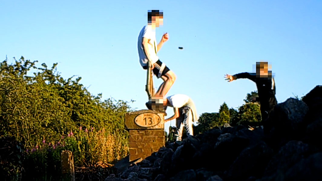 Mum's shock at CCTV of son trespassing on Warwickshire railway: Bedworth Trespass CCTV still (1)