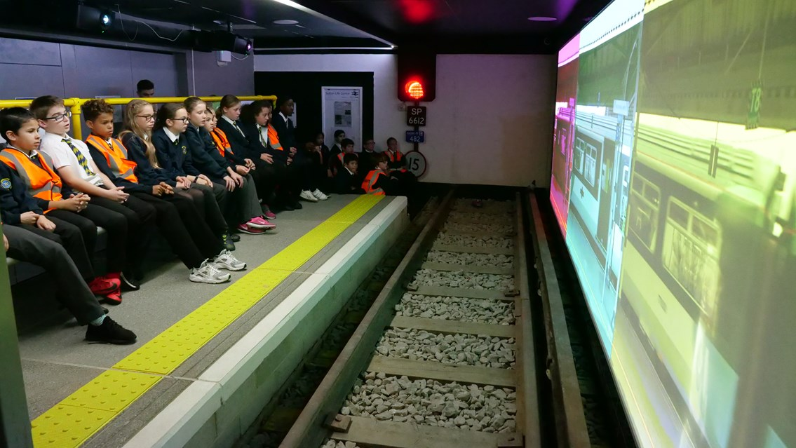 Life-size indoor train station to help hammer home safety messages to young people: Sutton Life Centre launch (2)