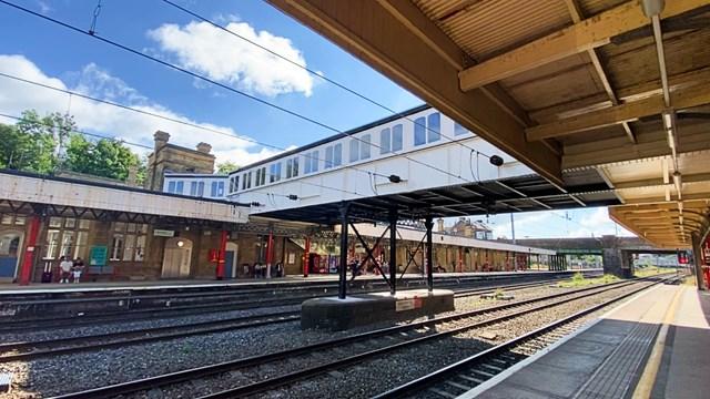 Lancaster station footbridge after refurbishment-2