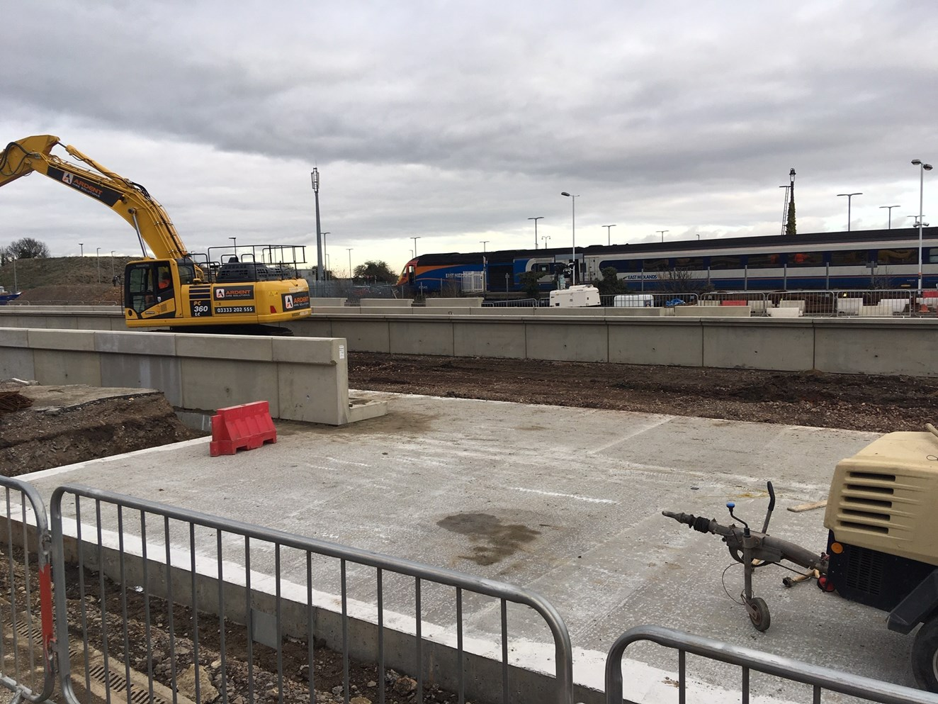 Major changes for passengers in East Midlands/South Yorkshire as Network Rail announces date for major upgrade to Midland Main Line: New platforms under construction at Market Harborough station