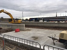 New platforms under construction at Market Harborough station