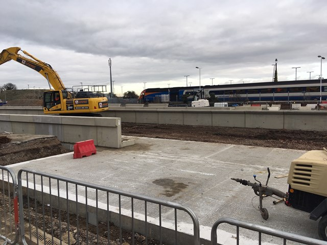 Network Rail announces date for major upgrade to Leicestershire's railway: New platforms under construction at Market Harborough station