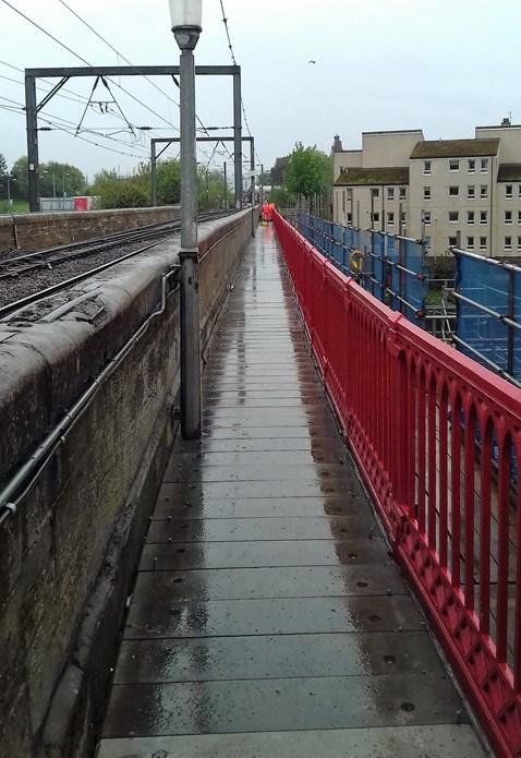 Revurbished walkway on Ayr viaduct