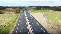 New M8 'Missing Link' Set To Open: M8 missing link looking westbound near Bargeddie 2