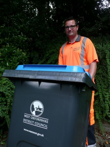 Recycling - blue bin