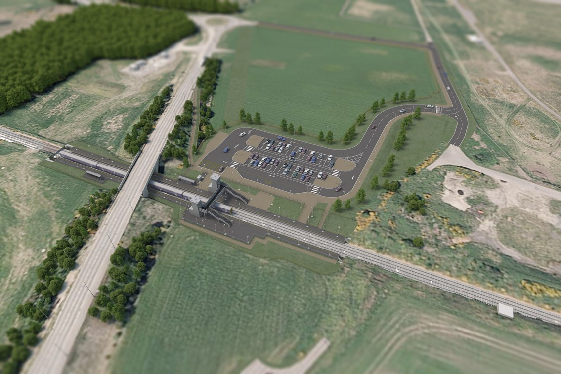 Planning consent received for Inverness Airport train station: Inverness Airport Station Artist's Impressions