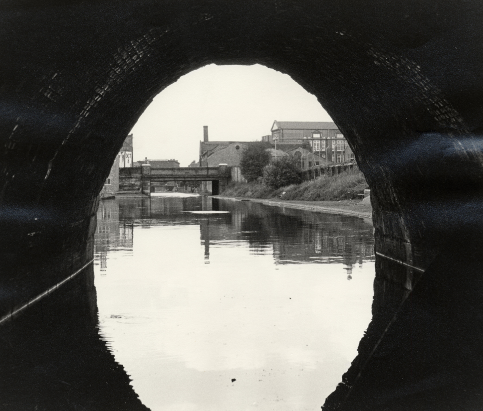 New exhibition from Islington Museum celebrates two centuries of the Regent's Canal: Thornhill Bridge from Islington Tunnel, 1973. Credit: Islington Local History Centre