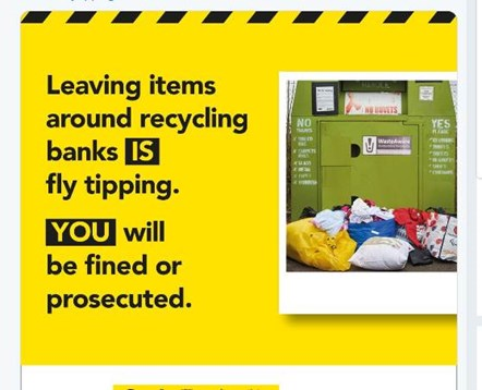 Fly tipping warning