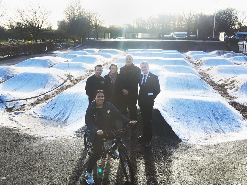 Phase one of Middleton Park cycling hub officially opened: grouppic2.jpeg