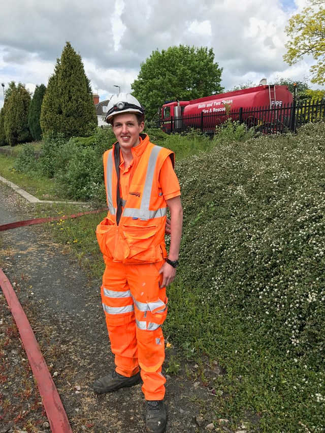 Ed Aston joined the Network Rail apprenticeship scheme fresh from his A levels in 2013