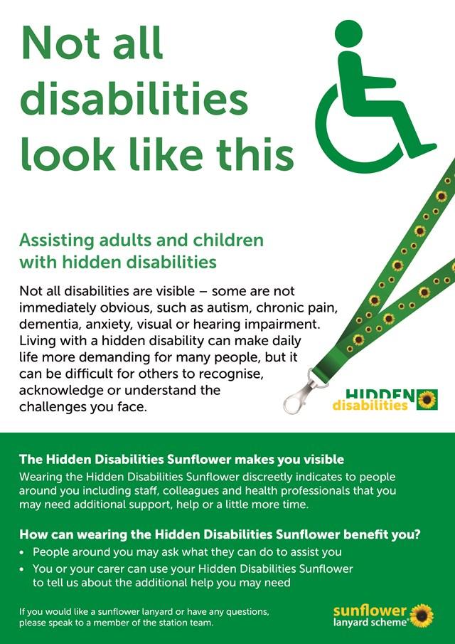 Hidden Disabilities Sunflower