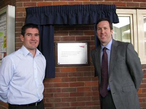 Nigel Clough and Tom Glick open Derby Stations platforms