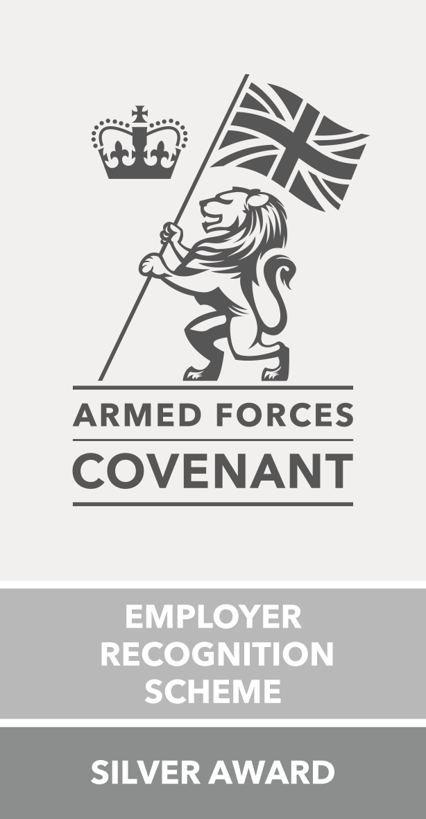 AFC Silver Logo (002): Armed Forces Covenant- Employer Recognition Scheme Silver Award logo