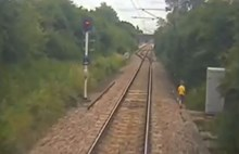 Trespass footage of young boy on railway in Anglia