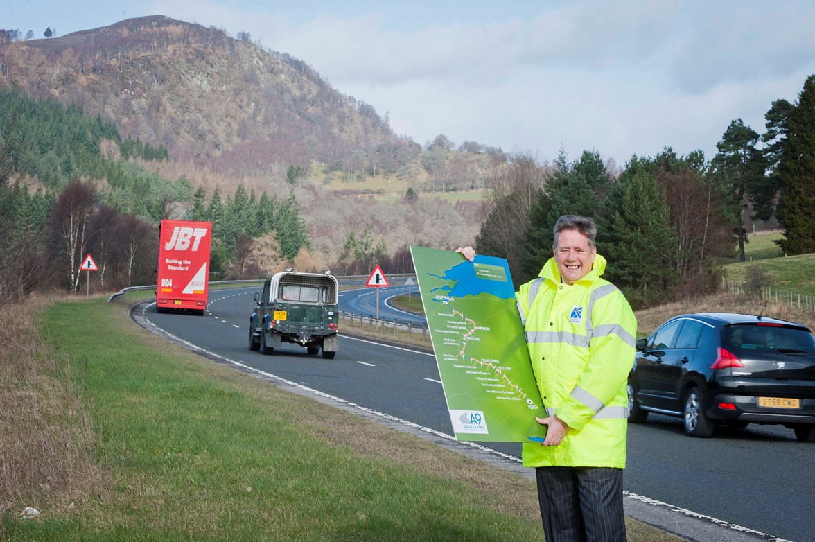 Cabinet Secretary, Keith Brown on A9