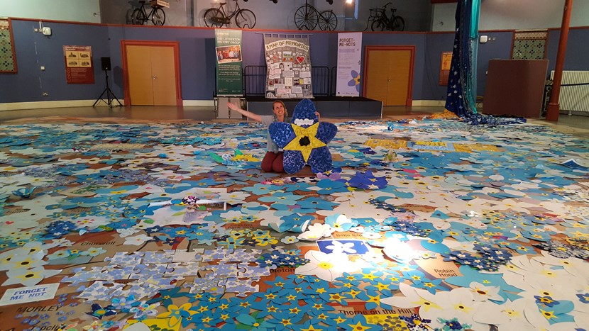 Sea of flowers covers museum's giant map of Leeds: 20170926-1549481-2.jpg