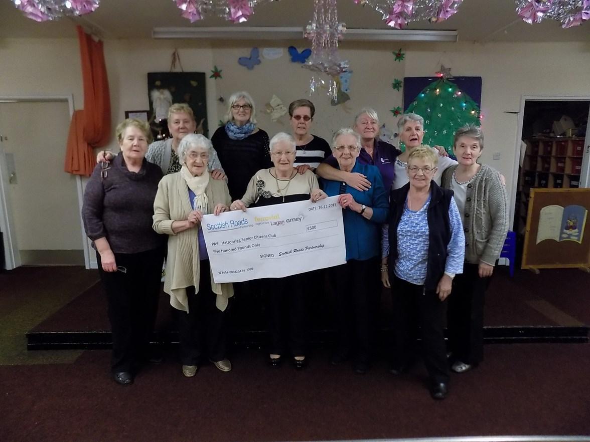 Hattonrigg Senior Citizen Club members