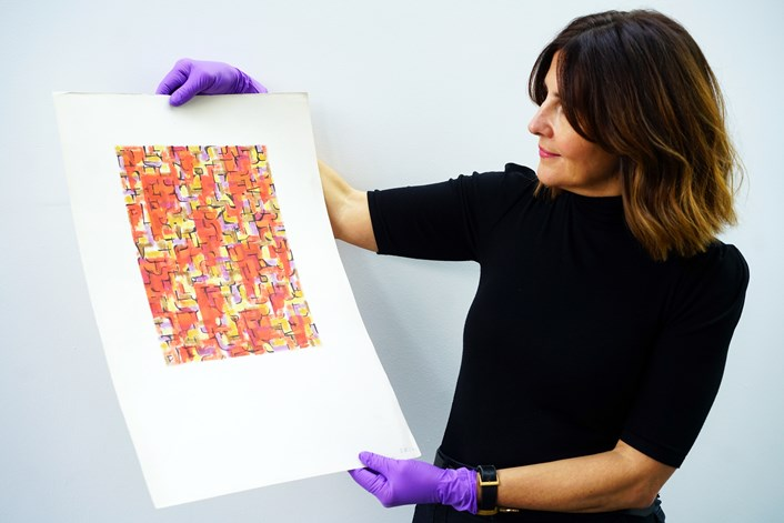 Bownas archive: Rugby-based gallery professional Chelsea Cefai, who has brought the collection to Leeds.